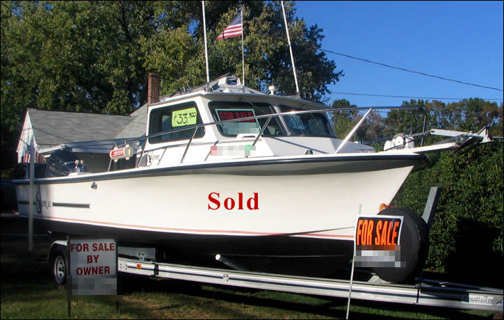 Boat for sale c hawk 25 foot sport fishing boat 250 for Fishing pontoons for sale