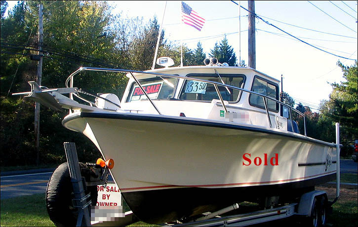 Boat for sale c hawk 25 foot sport fishing boat 250 for Used fishing kayaks for sale