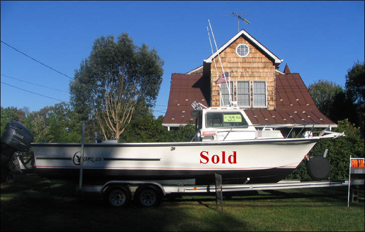 C hawk 25 39 1991 sport fishing boat for sale with 2004 for Used fishing boats for sale in md